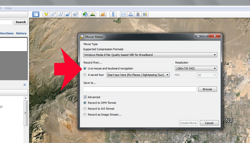 video marketing with google earth pro